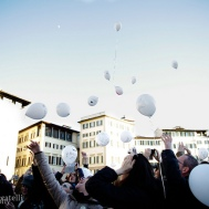 Flash mob in memory of David Bowie